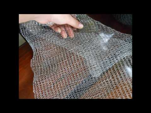 Stainless steel knitted stocking wire mesh 304A,Stainless steel knitted mesh filter - AISI304A
