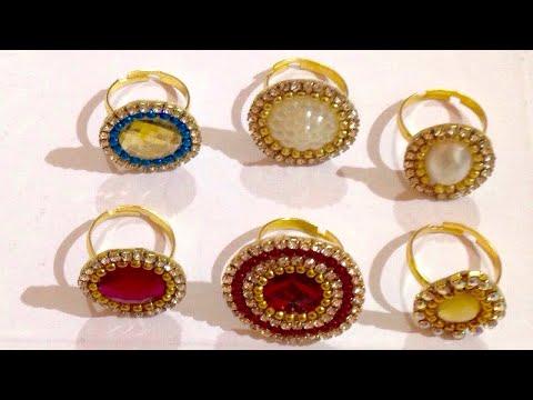 DIY rings 💍 || Make at Home || jewellery making tutorial || art & craft studio