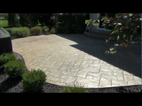 Stamped Concrete Patio Cleaning And Sealing In Avon Lake