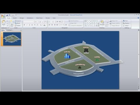 Powerpoint training |How to Create a 3D Map with Shapes in Powerpoint