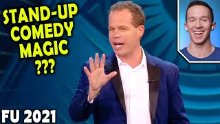 Magician REACTS to Matt Marcy FUNNY magic on Penn and Teller FOOL US 2021
