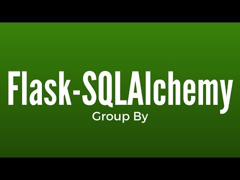 Group By in Flask-SQLAlchemy