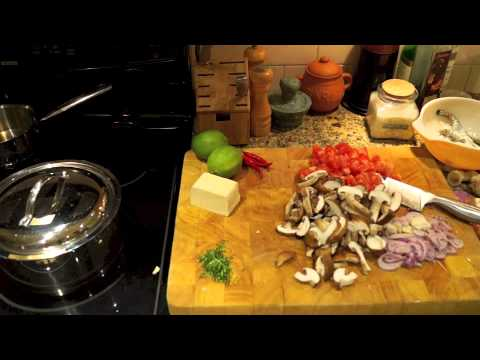 Making Tom Yum Soup
