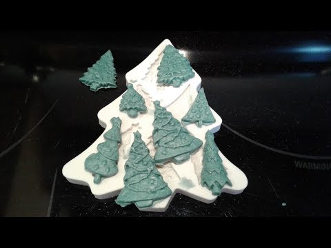 Making Trees from Cold Process Soap Dough | Pine Trees | Silicone mold