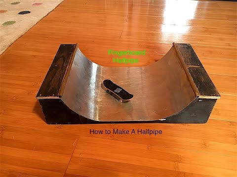 How To Make A Half Pipe | Fingerboard!