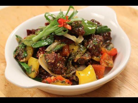 Salt and Pepper Crispy lamb   Sanjeev Kapoor Khazana