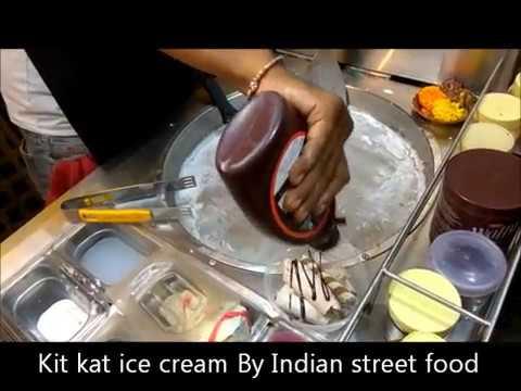 kitkat icecream rolls - CHOCOLATE WOKLATE ice cream rolls.