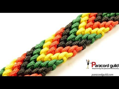 Chevron pattern paracord bracelet