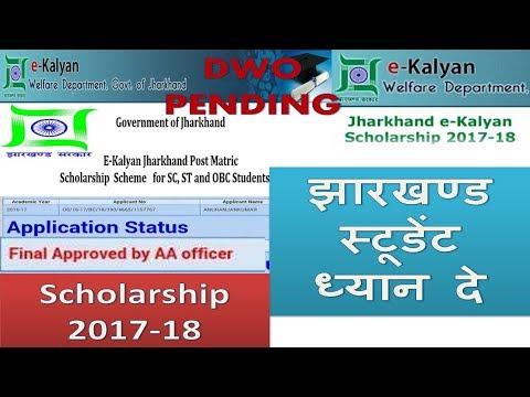 jharkhand scholarship 2017- 2018 DWO pending in hind| jharkhand ekalyan|jharkhand government jobs