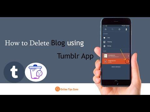 How to Delete Tumblr Blog on App