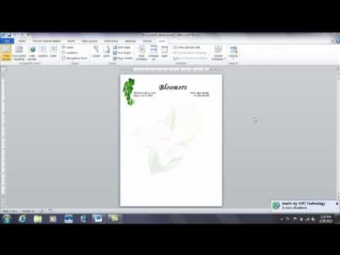 Word: How to Create a Watermark for Company Letterhead