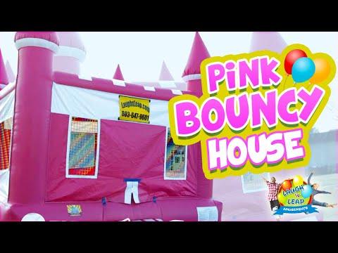 Girl Bouncy Castle - Queen's Castle for Girl Parties