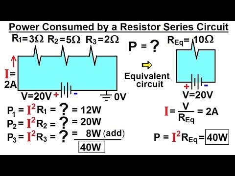 Physics - E&M: Ch 41.3 Ohm's Law & Resistor Circuit Understood (12 of 27) Power of a Series Resistor