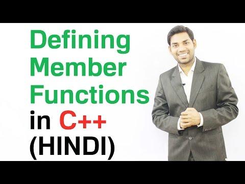 Defining Member Functions in C++ (HINDI)