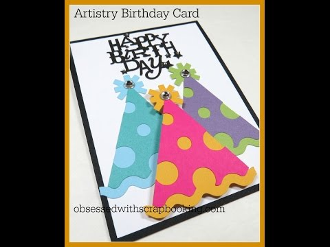Artistry Cricut Birthday Party Hat Card
