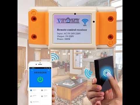 Vhome 433mhz touch remote control wifi receiver how used in wall light bulb smart home