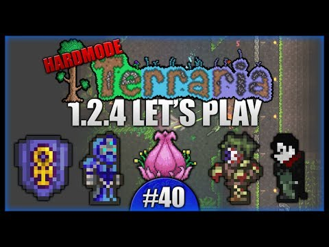 Ankh Shield! Shroomite Armour! Surprise Eclipse! || Let's Play Terraria 1.2.4 [Episode 40]