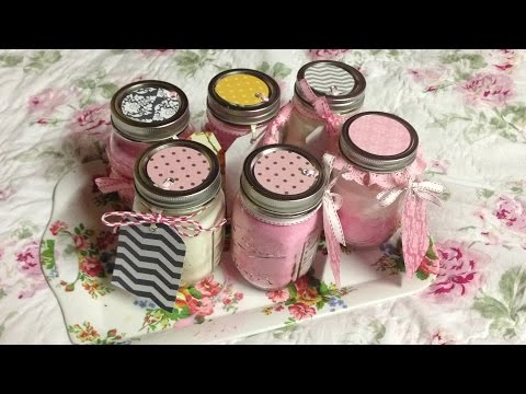 Homemade Rose and Cherry Blossom Candles for Mother's Day