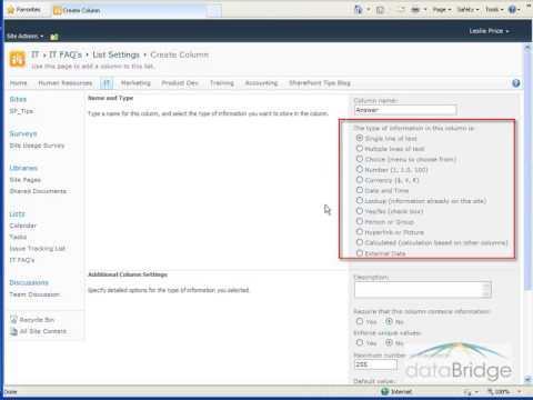 Creating a Custom List in SharePoint 2010