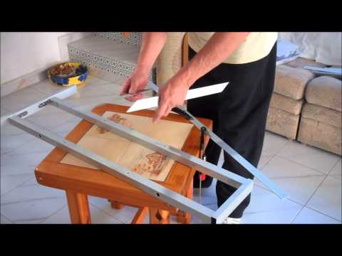 how to make a vinyl cutter plotter stand with extruded aliuminium .wmv