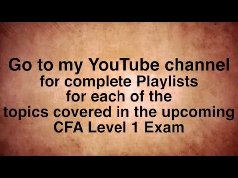 How to Pass Level 1 CFA with 53 Percent -  Plan B Strategy