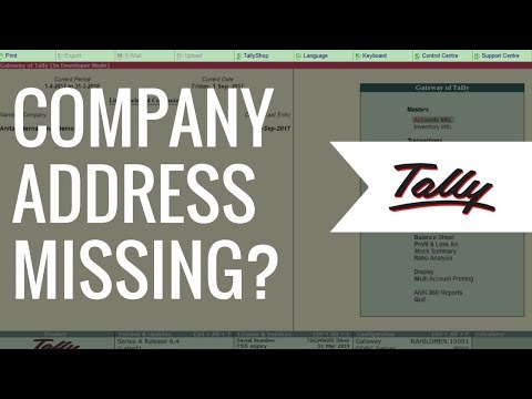 Company Address missing in Invoice (Titling) | Tally.ERP 9 FAQ