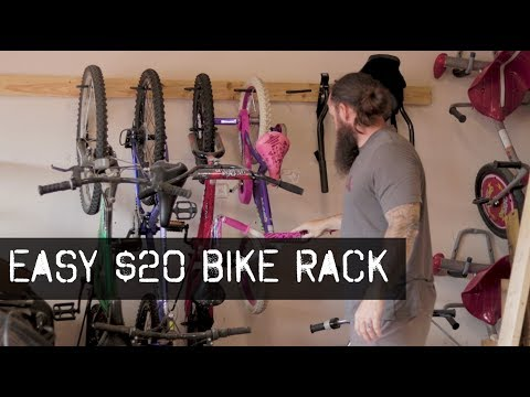 Awesome Garage Bike Rack/Storage - Build it for $20