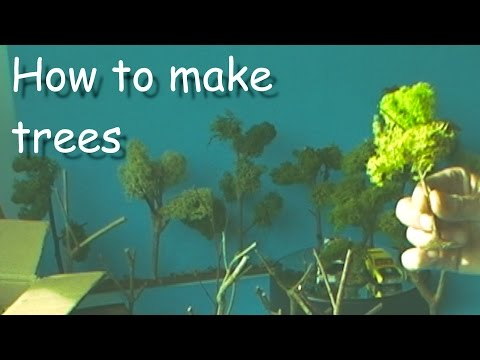 How to make a TREE  for model layouts and dioramas