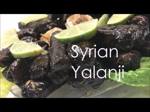 How To Make Syrian Yalanji (Vegetarian Stuffed Grape Leaves)