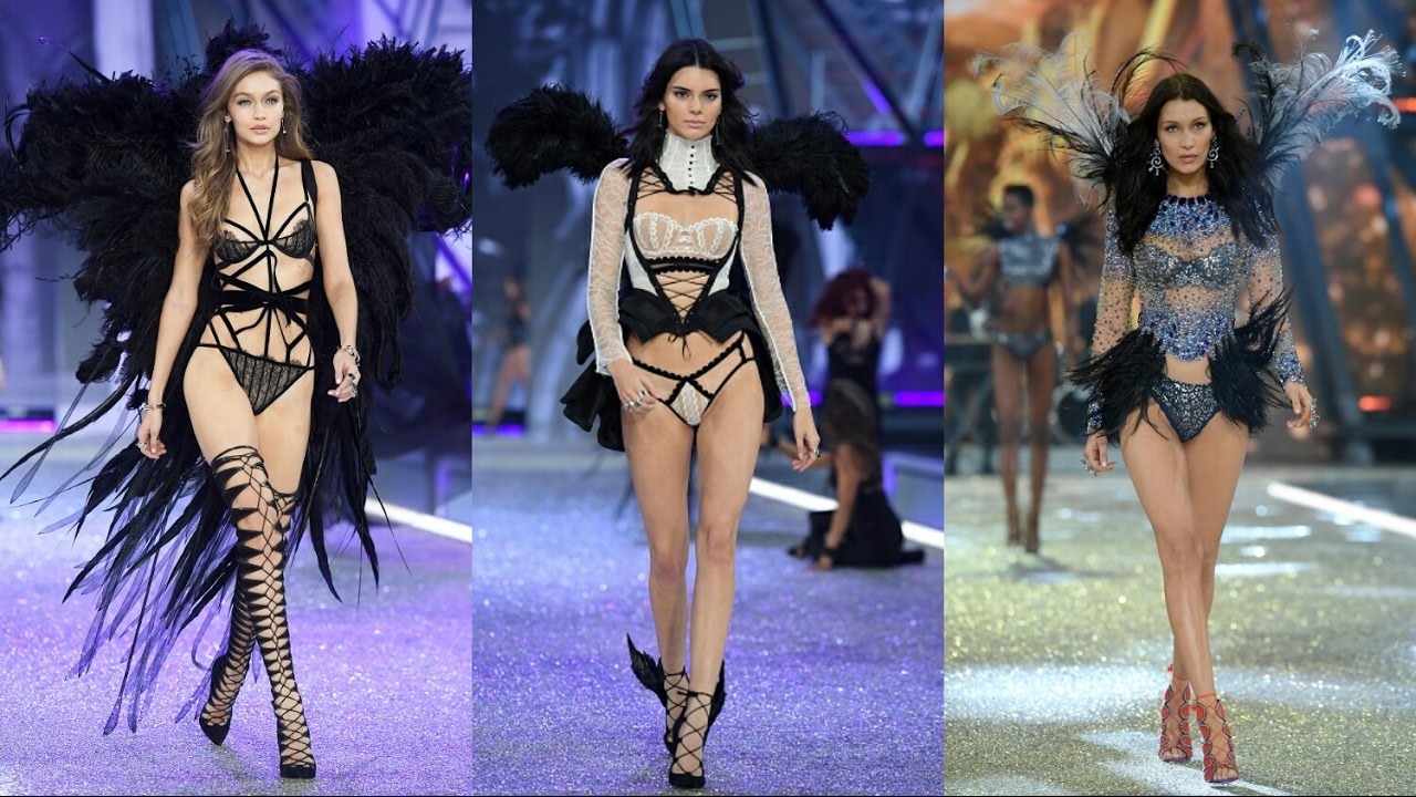 Gigi Hadid, Kendall Jenner & Bella Hadid at The Victoria's Secret Fashion Show 2016