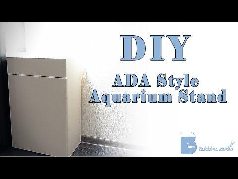 Wood Cabinet ADA step by step, Изготовление аквариумной тумбы ADA