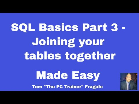 sql basics part 3 - joining tables together - how to join tables together in SQL relationships