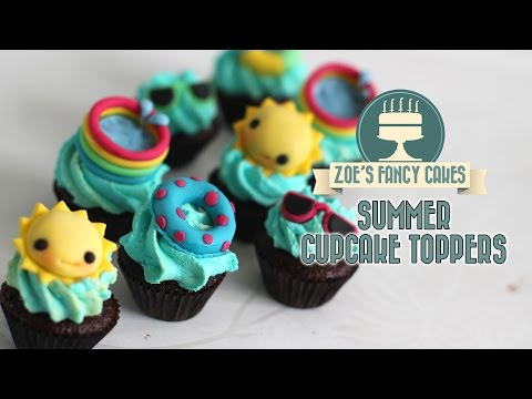 Summer cupcake ideas: how to make sunny summer cake toppers