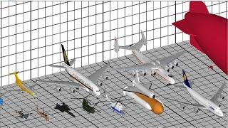 Aircraft Size Comparison 3D