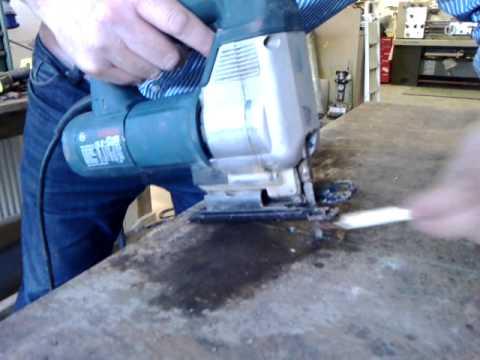 Cutting 6mm steel plate using a jigsaw