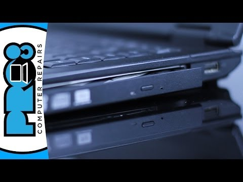 How to open a stuck CD/DVD drive