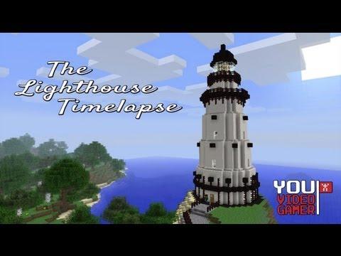 Minecraft Timelapse - Lighthouse Build - YVG