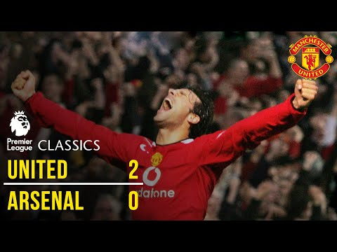 Manchester United 2-0 Arsenal (04/05) | Premier League Classics | Manchester United