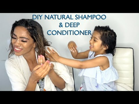 DIY Natural Shampoo and Deep Hair Conditioner