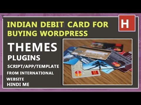indian debit card for buying wordpress themes and plugins