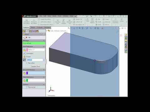 How to create planes - SOLIDWORKS Tutorials