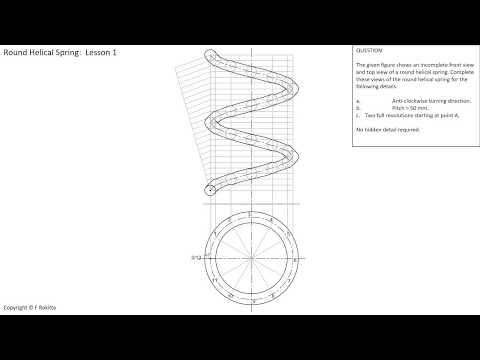 Round Helical Spring Construction  -  Lesson 1