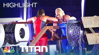 Charity Witt and Mariah Counts Lug 350 Pounds of Chain Uphill in Heavy Metal - Titan Games 2019
