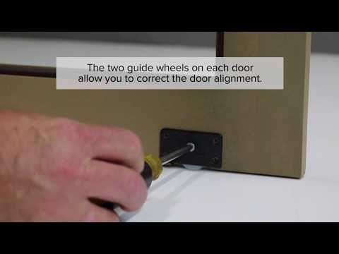 How to Install Sliding Cabinet Doors