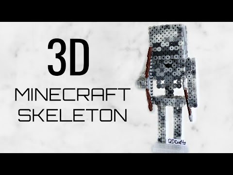 3D Perler/Artkal Bead Minecraft Skeleton (FULL TUTORIAL)