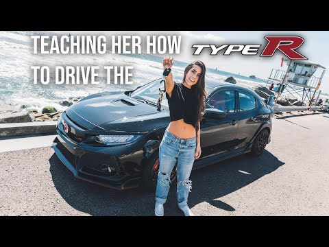 TEACHING MY GIRLFRIEND HOW TO DRIVE STICK SHIFT IN THE TYPE R!