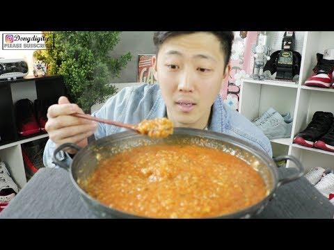 Jjamppong Porridge MUKBANG