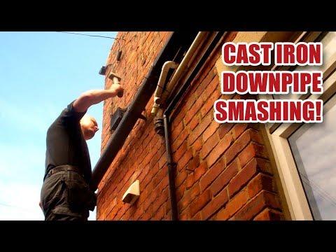 Cast Iron Drainpipe / Downpipe Replacement with Plastic - Gosforth Handyman [14]