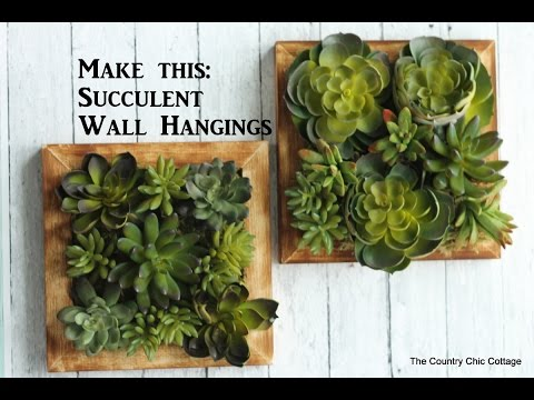 Faux Succulent Wall Hanging #craftsunder10hoa