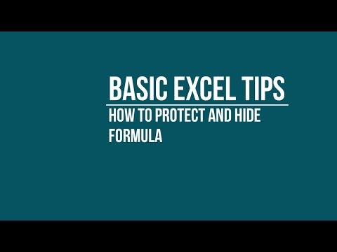 [BASIC] How to Protect and Hide Formula in Excel Sheet